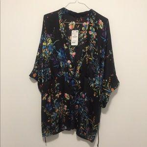 Zara Floral Duster/Jacket Sz. Small